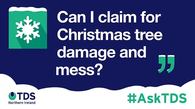"#AskTDS: ""Can I claim for Christmas tree damage and mess?"""
