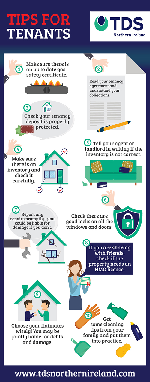Top tips for tenants infographic