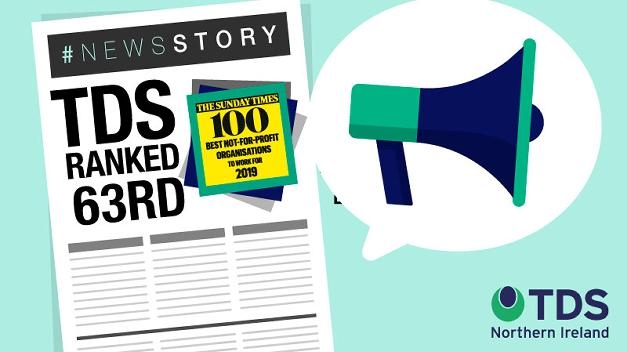 #NewsStory: TDS named in Sunday Times' 100 Best Not-For-Profit Organisations To Work For